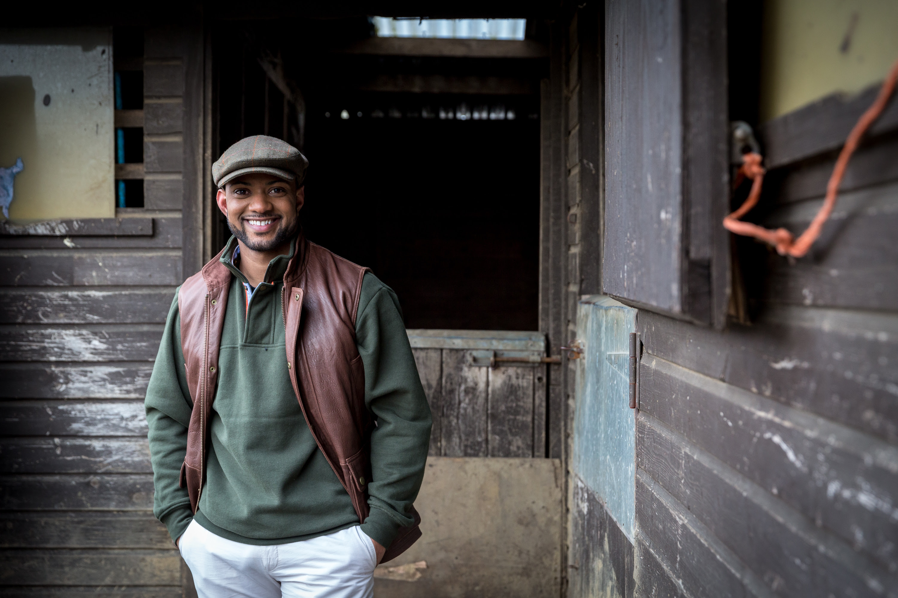 Budding farmer and CBeebies presenter JB Gill