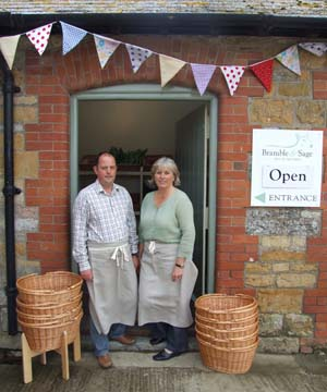 Graham & Jane Harvey  owners of Bramble & Sage