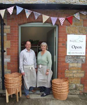 Graham & Jane Harvey  owners of Bramble & Sage