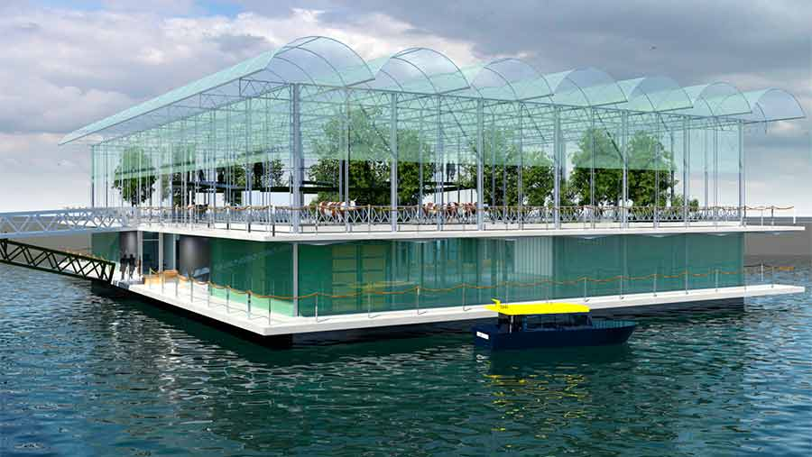 The Floating Farm will produce different kinds of dairy products