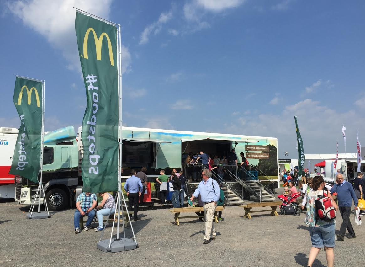 Free range egg company helps McDonald's 'Follow our Foodsteps' food chain story