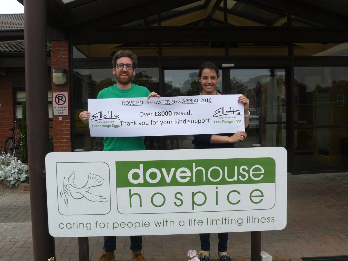 East Yorkshire free range egg company raises £8000 for Hull hospice