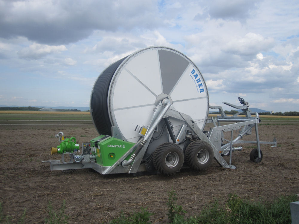 Bigger capacity reel joins the Bauer Rainstar E-series irrigator range