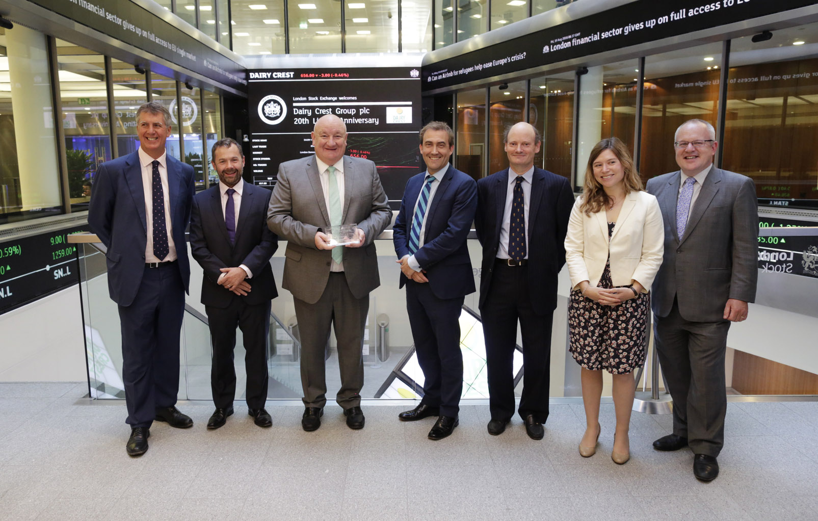Dairy Crest opening the Stock Exchange