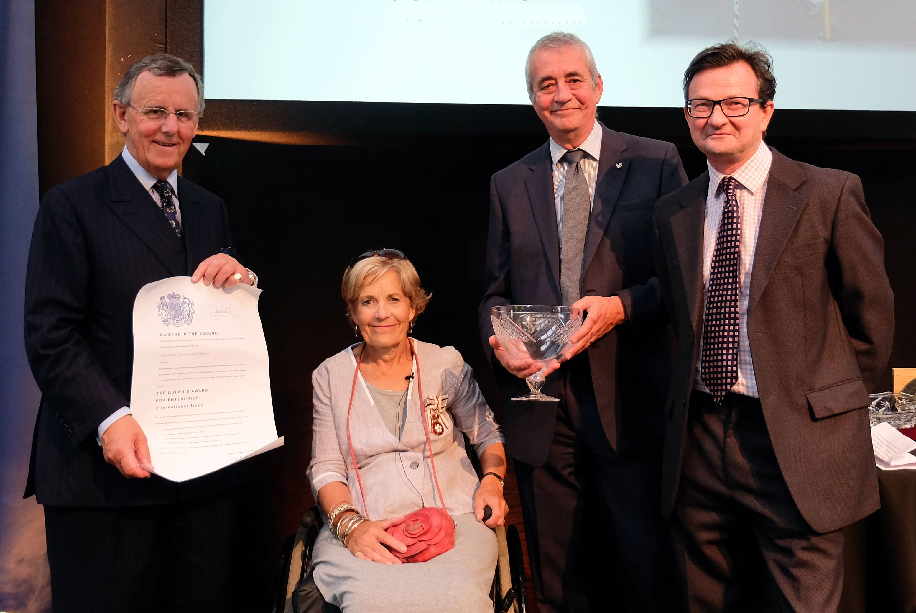 Leading exporter of British cheese Somerdale international presented with Queens Award