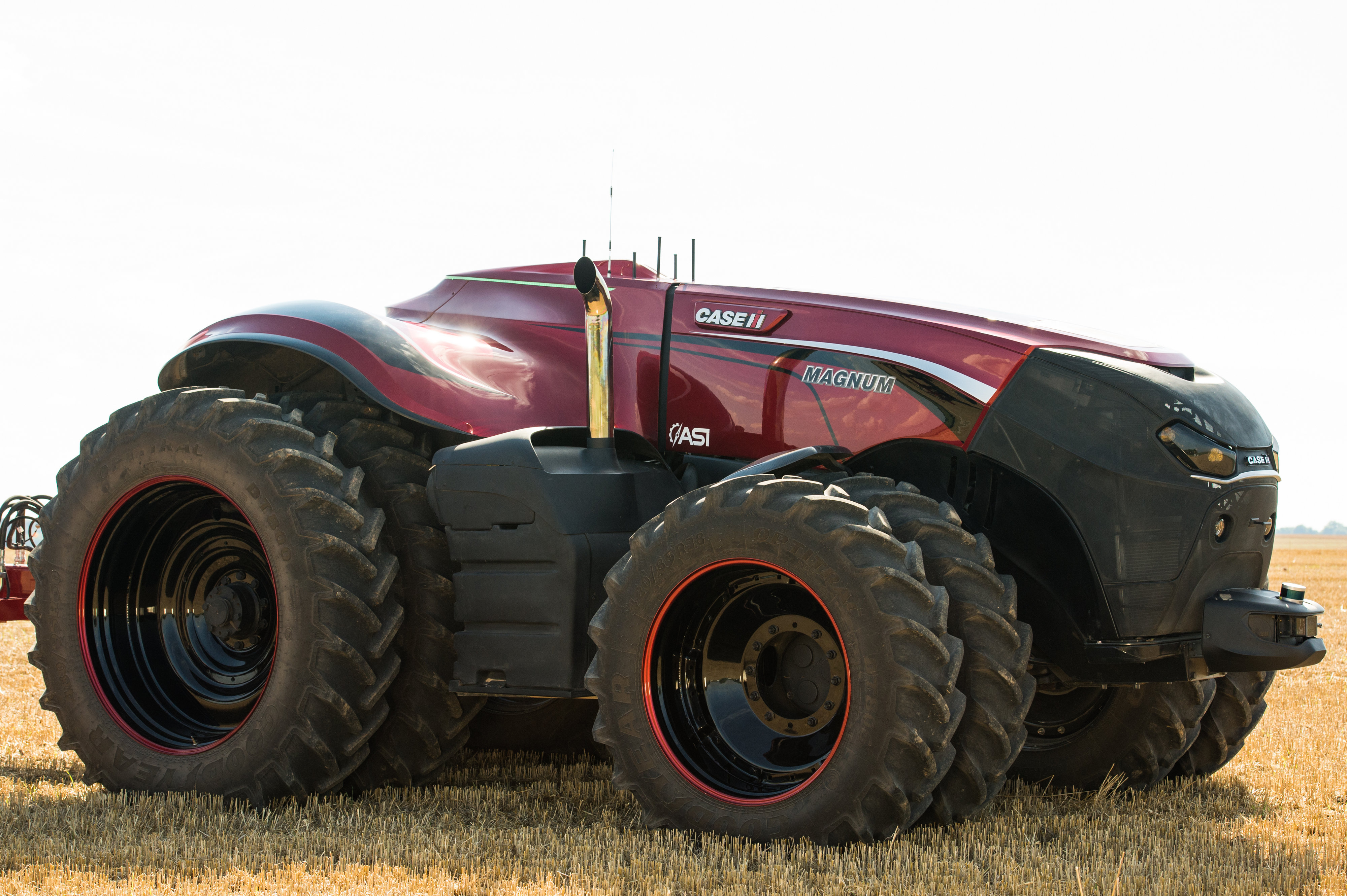 The vehicle can sense stationary or moving obstacles in its path