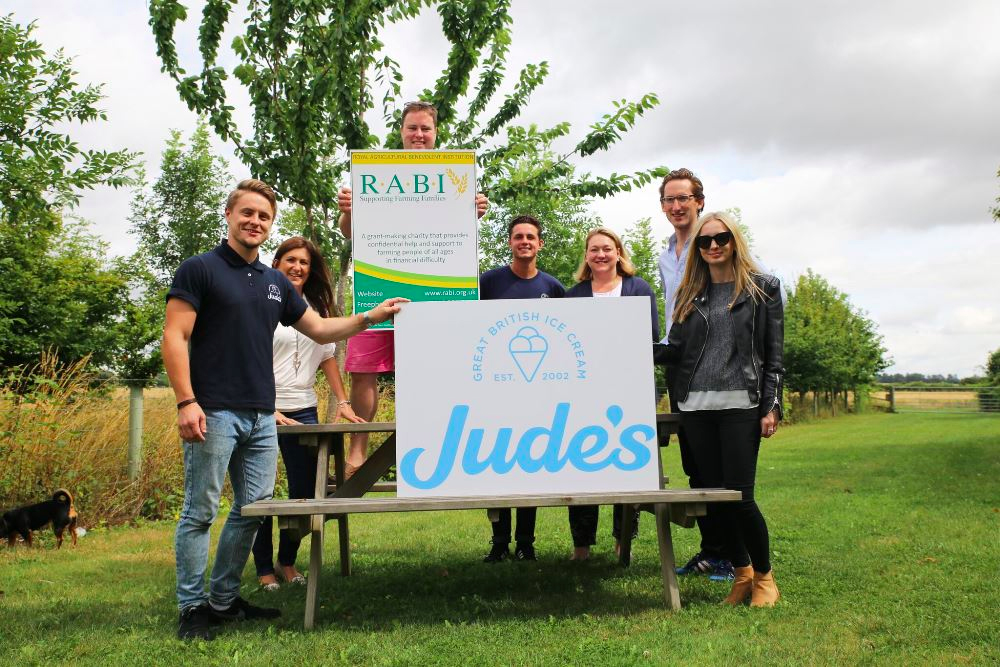 Hampshire-based Jude's Ice Cream donates £500 to agricultural charity
