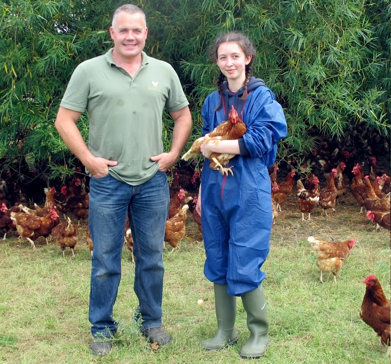 Schoolgirl who helped supermarkets ditch caged eggs goes on free-range farm tour