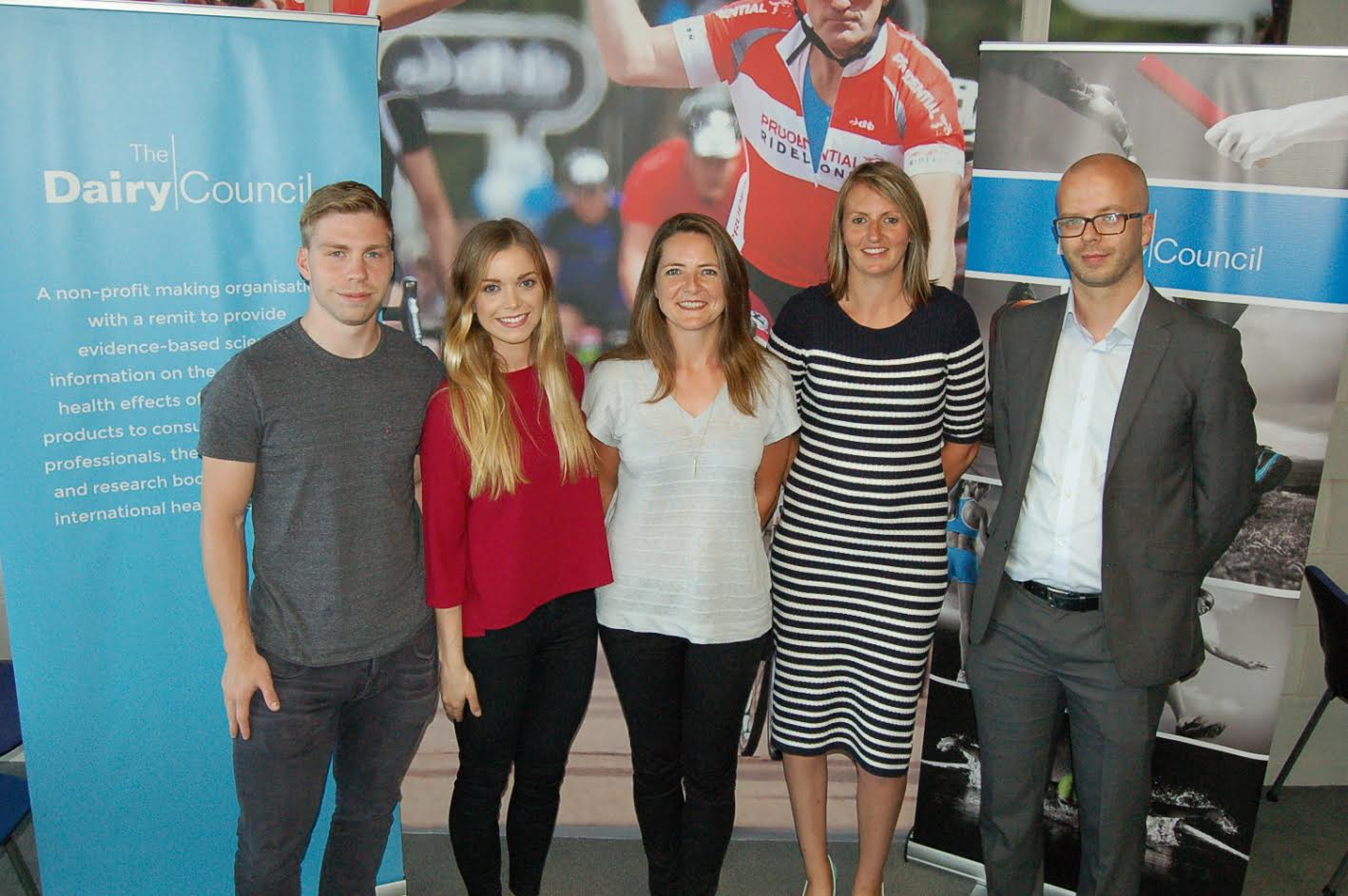 olympians attend nutrition event to showcase benefits of dairy philip hindes mbe lydia cooper nutrition scientist at the dairy council goldie