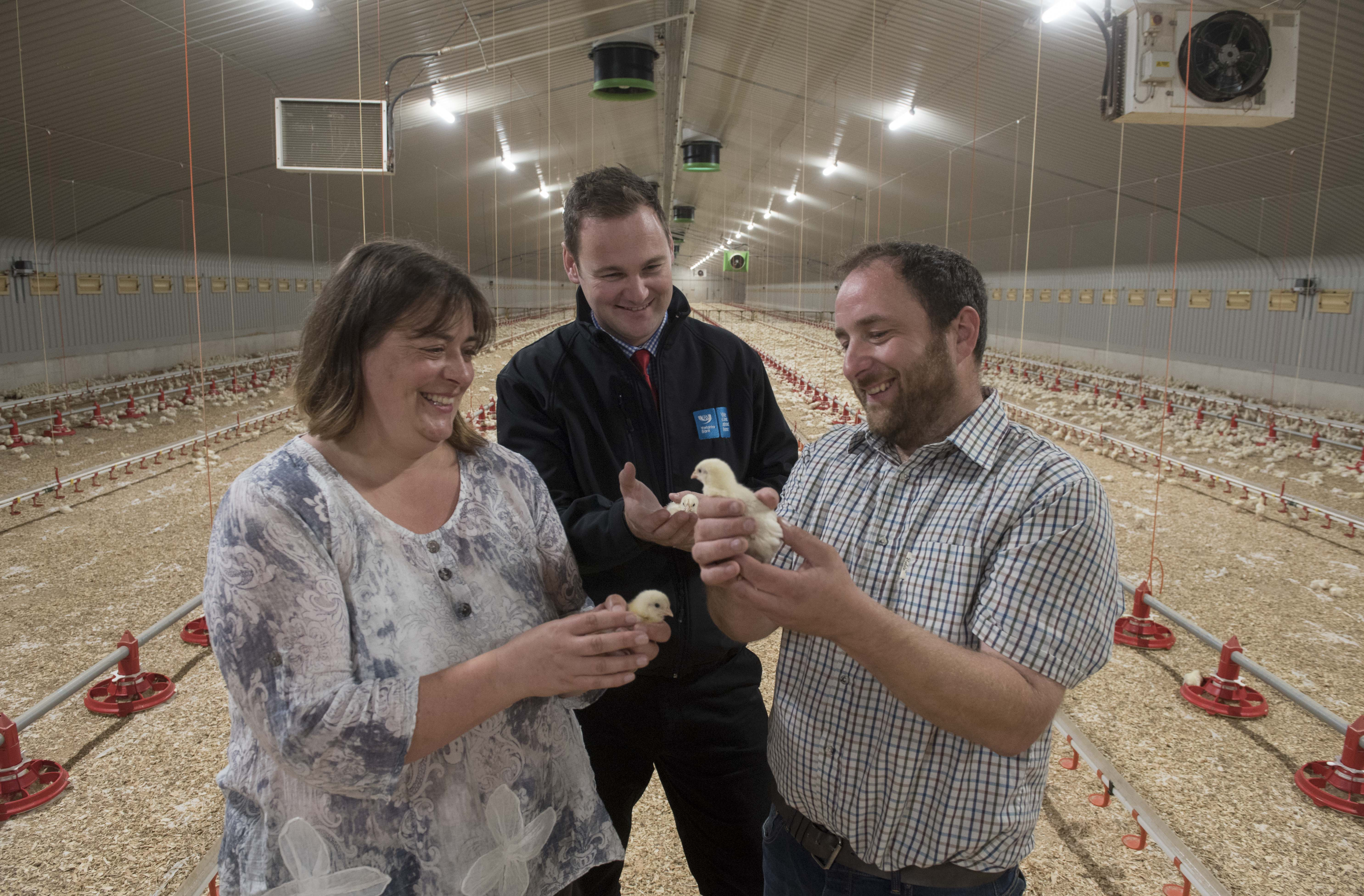 Yorkshire poultry farmer cultivates growth with support from Yorkshire Bank‏