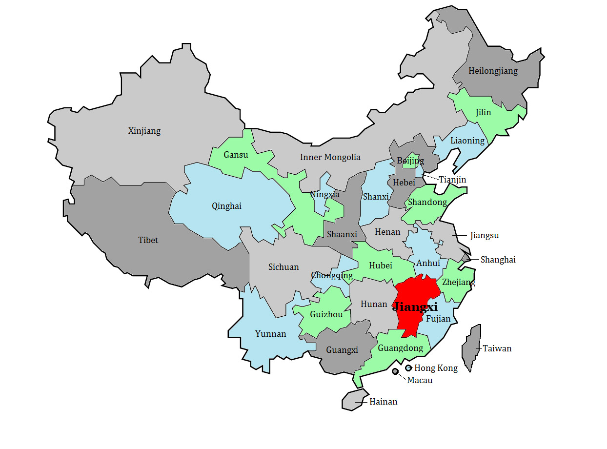 Jiangxi Province, one of China's key agricultural regions