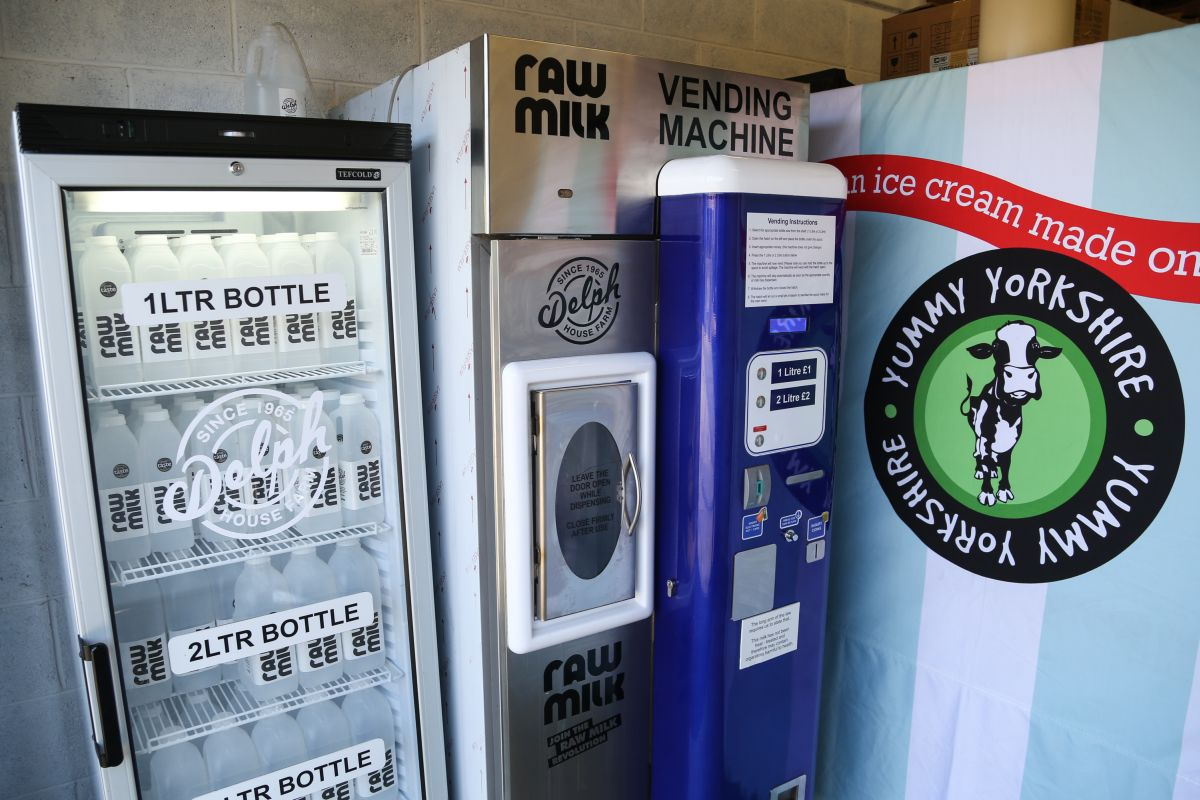 The raw milk vending machine, straight from the farm