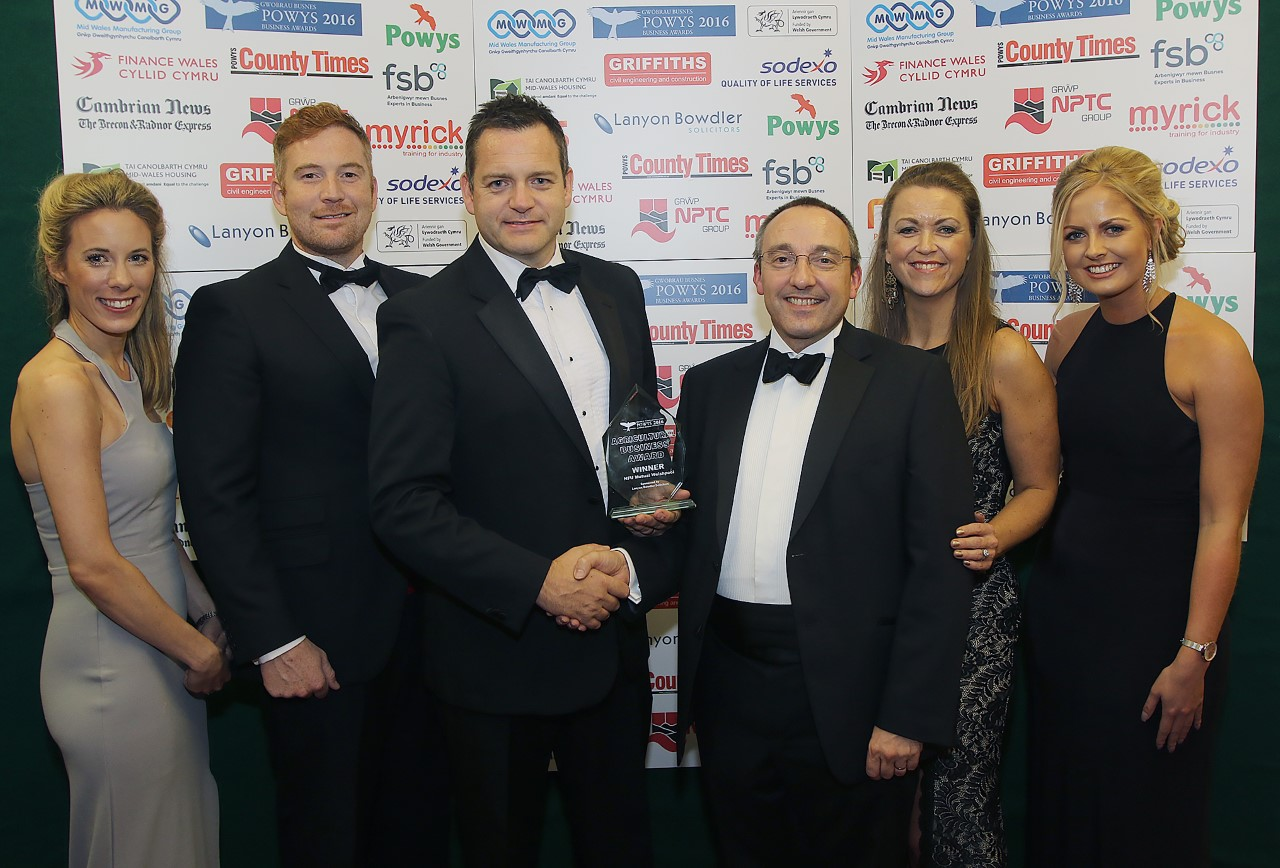 NFU Welshpool celebrate success after claiming Agricultural Business Award 2016