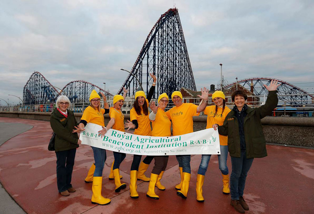 A group of intrepid R.A.B.I staff and supporters climbed the 420 steps, or 235ft, to the top of the highest peak on 'The Big One' rollercoaster at Blackpool Pleasure Beach