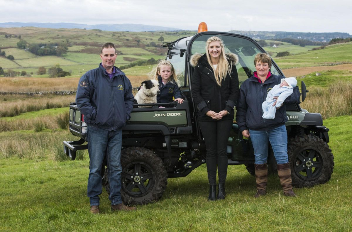 Rebecca Adlington puts on a pair of wellies to support Scotch Lamb PGI