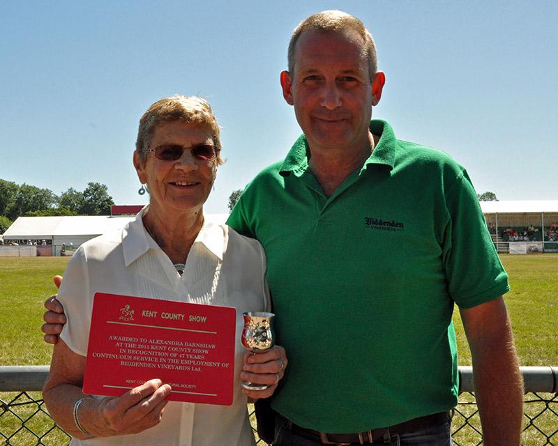 Biddenden Vineyards owner Julian Barnes (right)
