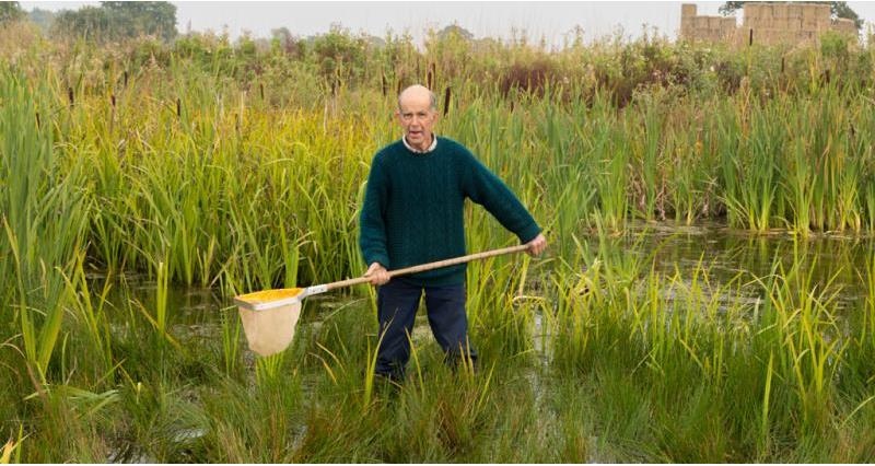 Richard Waddingham from Norfolk accepted the Marsh Award for Wetland Conservation