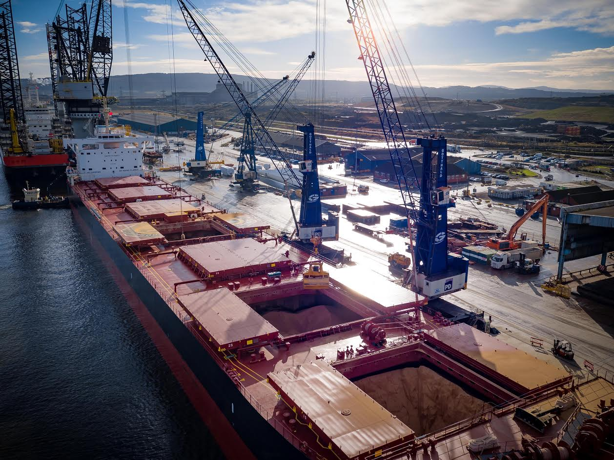 Biggest soya bean meal vessel lands in the UK - 54,000 tonnes of it
