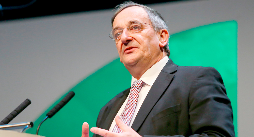 Warnings of food price increases underline importance of British food production (Photo: NFU President Meurig Raymond)