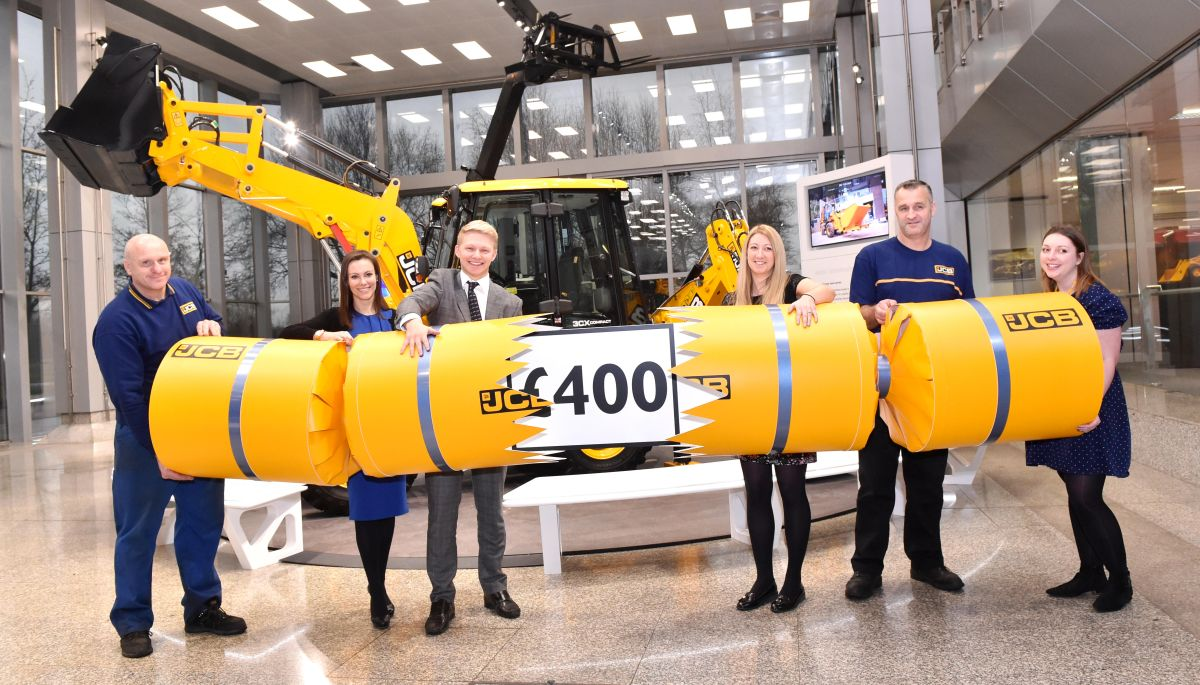 JCB employees bag £400 Christmas bonus today from a pot of £2m