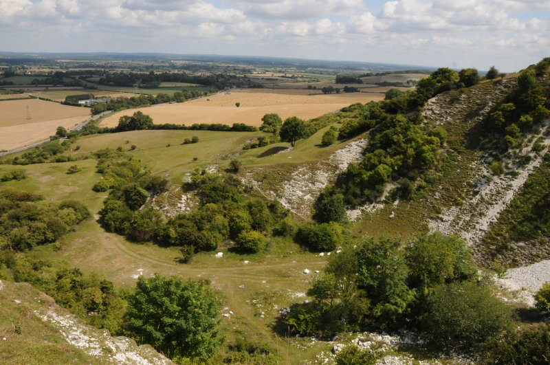 Malling Down nature reserve near Lewes, East Sussex