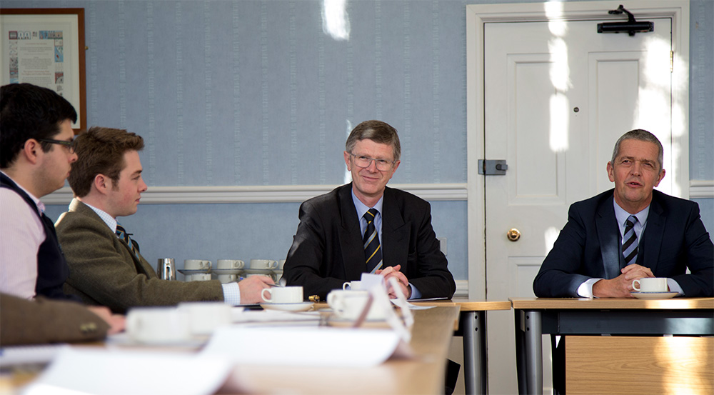 Guy Smith came to the University to discuss Brexit and a domestic agricultural policy with a group of students