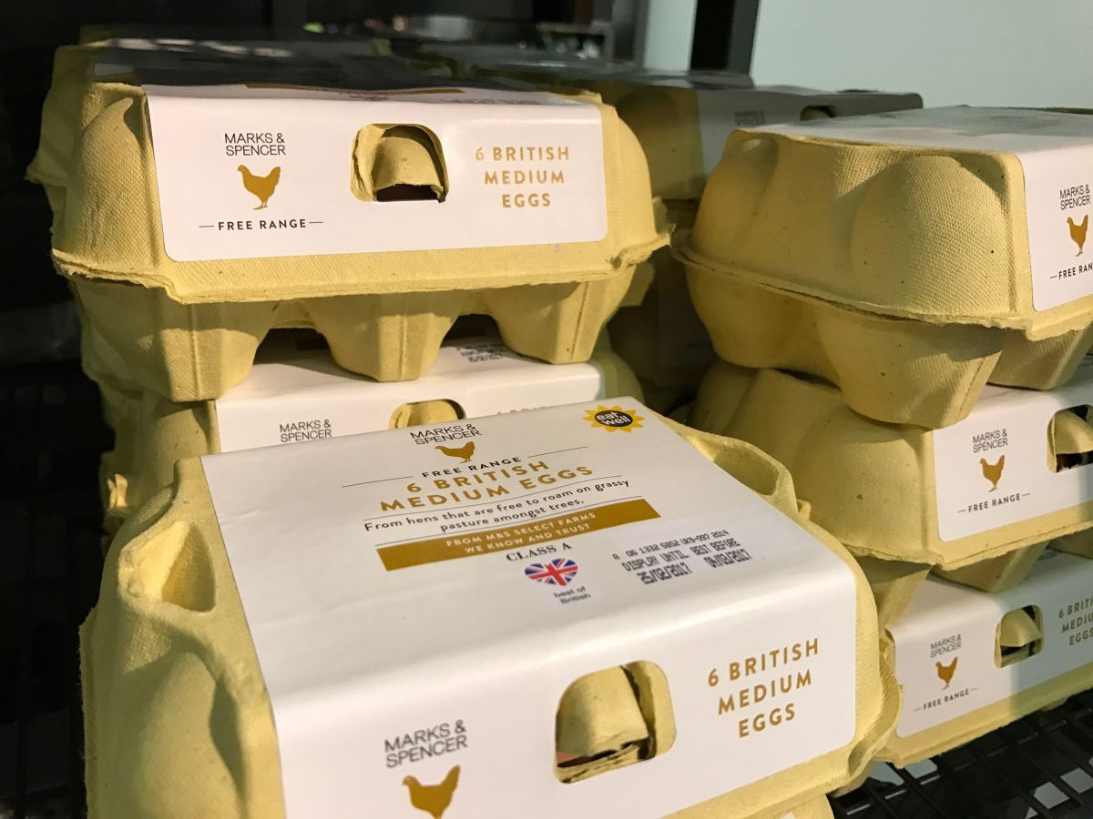 Supermarkets are expecting a shortage of two million free range eggs on 1st March