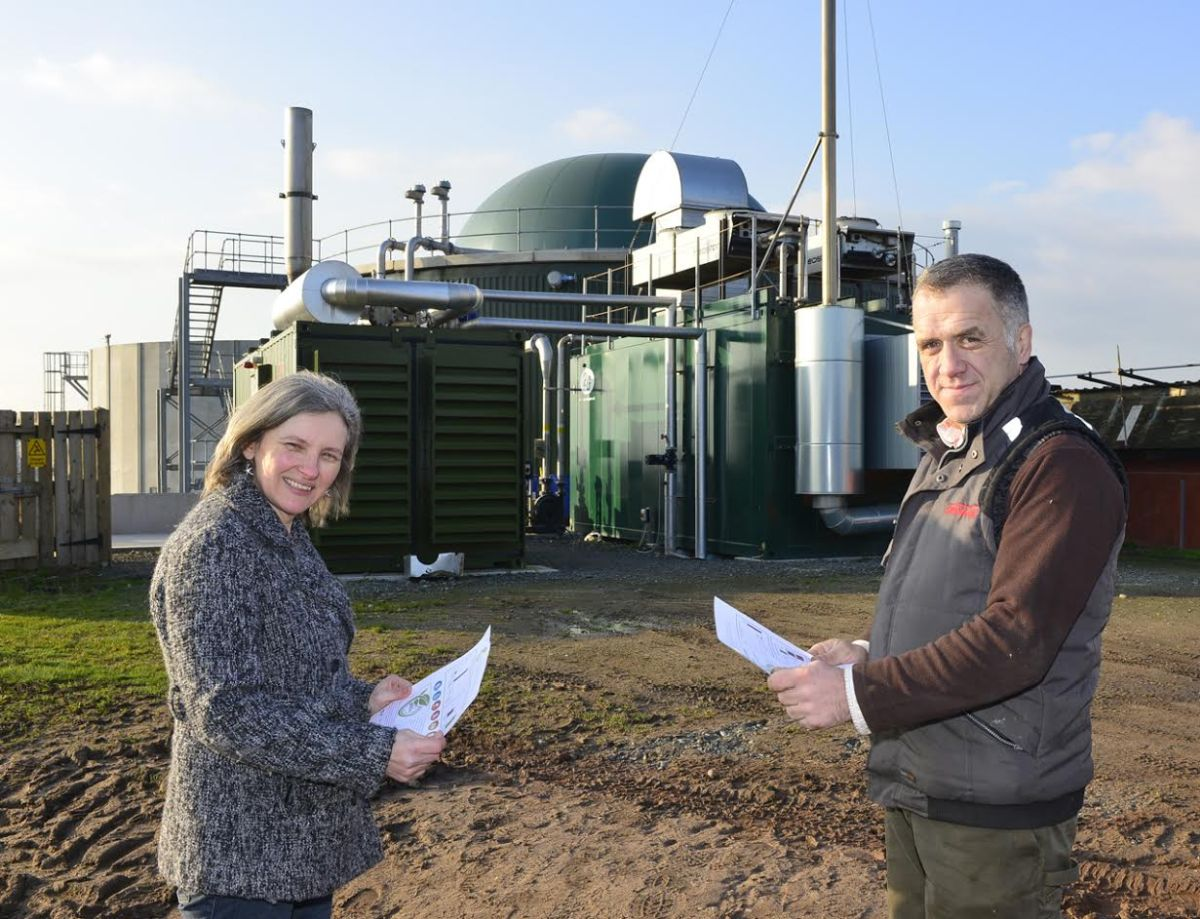 Farmer receives 'green' accolade for environmental efforts (R - farmer Neil Furniss)