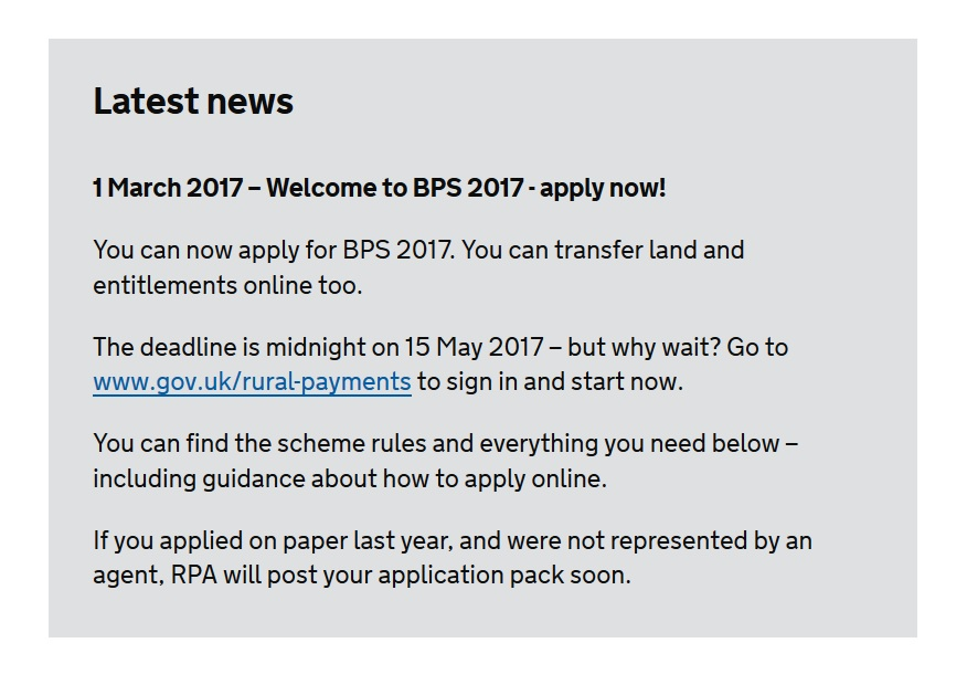Basic Payment Scheme 2017 opens for applications
