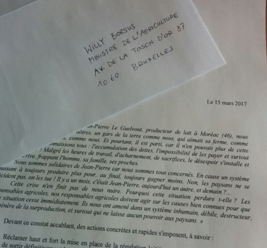 Milk producers from European countries are currently sending letters to their national Agriculture Ministers