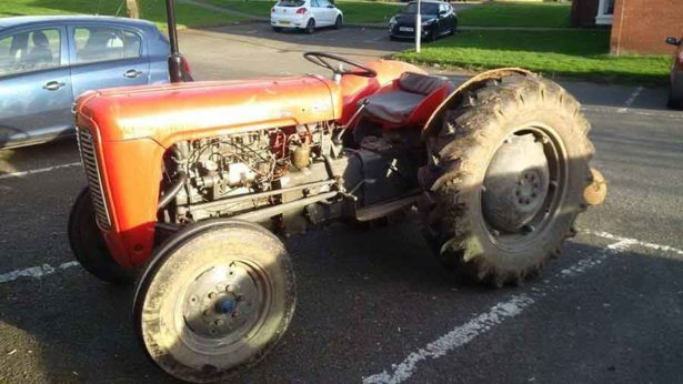Ben Bickens was jailed for 18 weeks by magistrates on Thursday for drink driving on this vintage tractor (Photo: Hinckley Police Facebook)