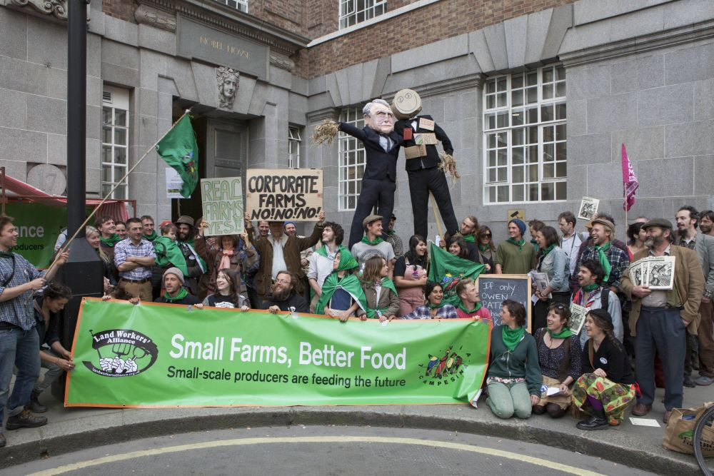 The campaigning group represents small farmers and has called for government policy to cater to a plurality of food producers