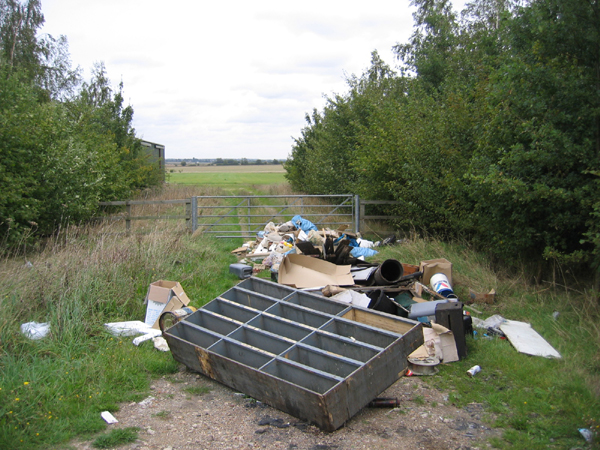 Police raid addresses as part of fly-tipping clampdown