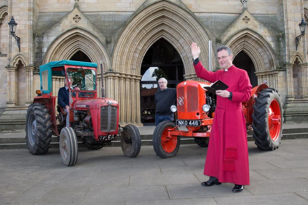 Ripon Reverend blesses tractors in preparation for Tractor Fest