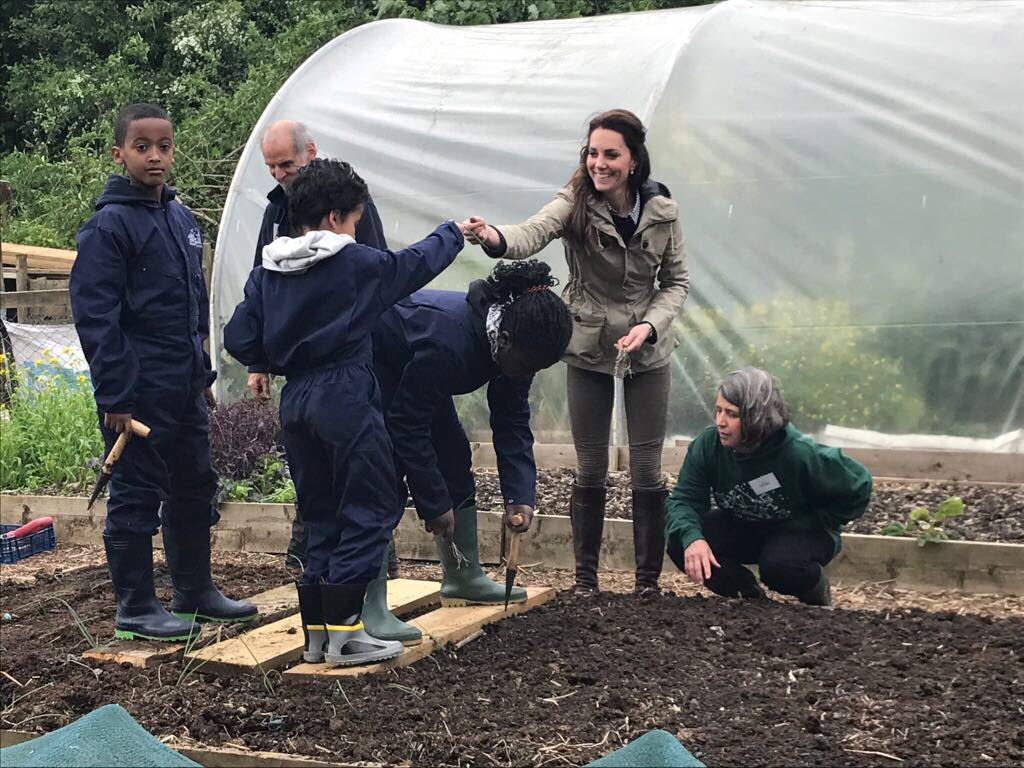 Kate Middleton visits farm which helps city children learn about farming
