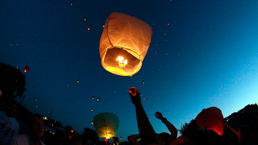 Sky lantern festival prompts farmers to raise concerns over dangers