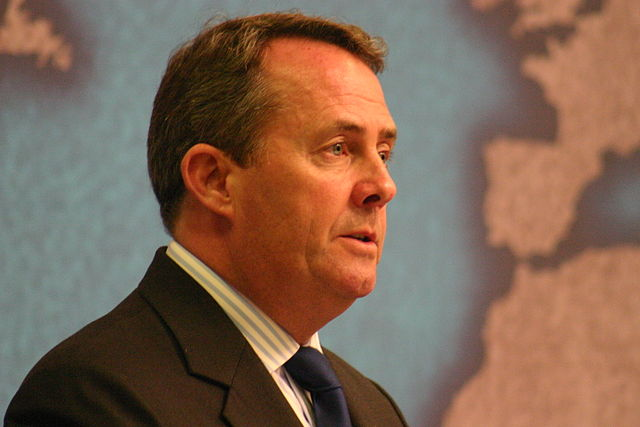 Trade Secretary Dr Liam Fox is about to visit US to talk up a potential trade deal