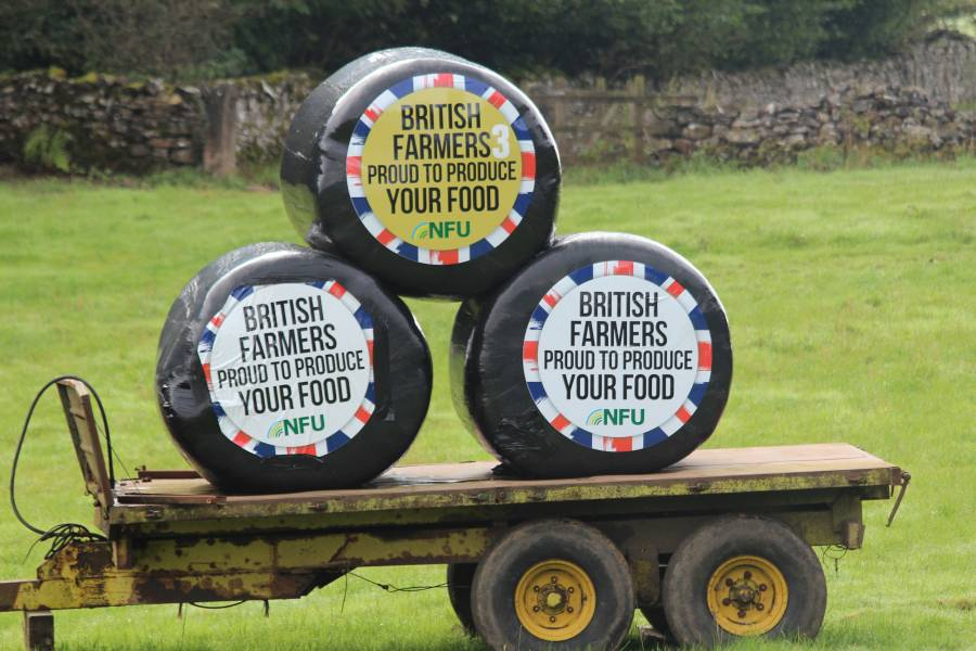 Lake District farmers roll out 'Proud to Produce' silage bales