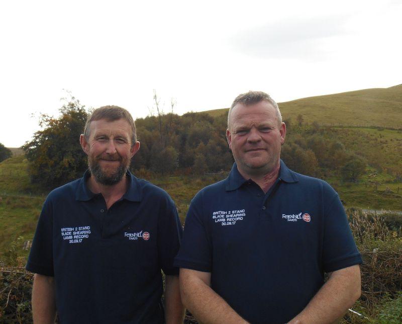 Welsh shearers Gareth Owen and Clive Hamer