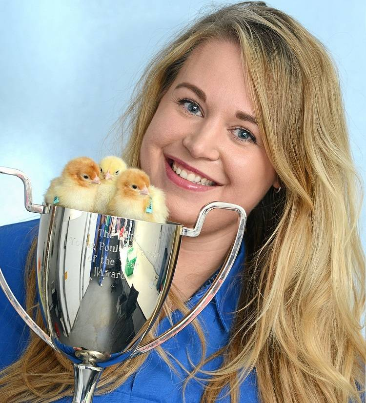 Welfare expert Jessica Martin named Young Poultry Person of Year