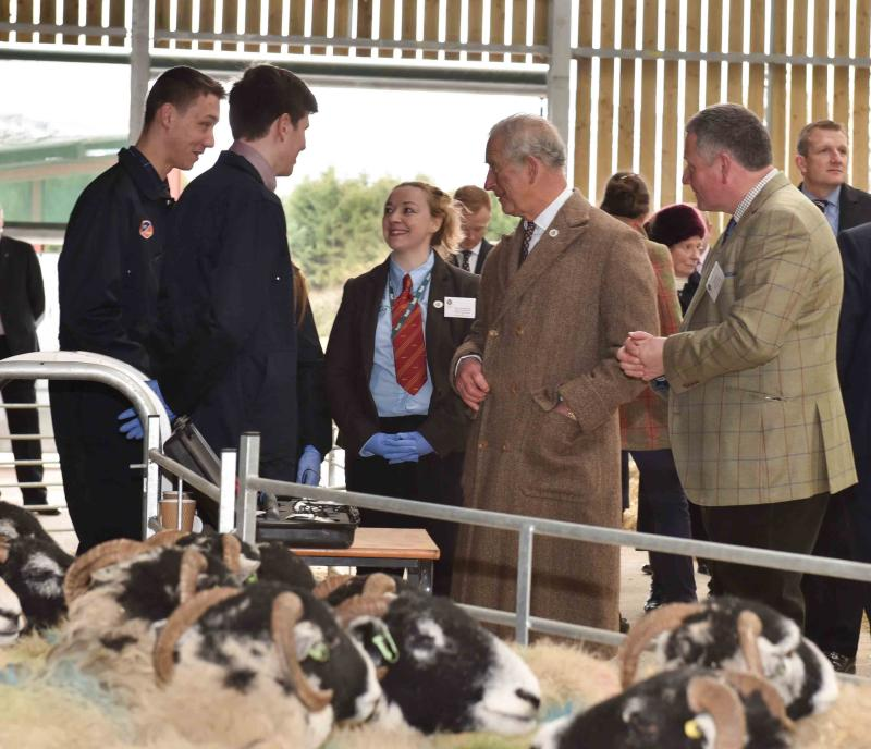 Prince Charles meets with young Cumbrian farmers to discuss the future