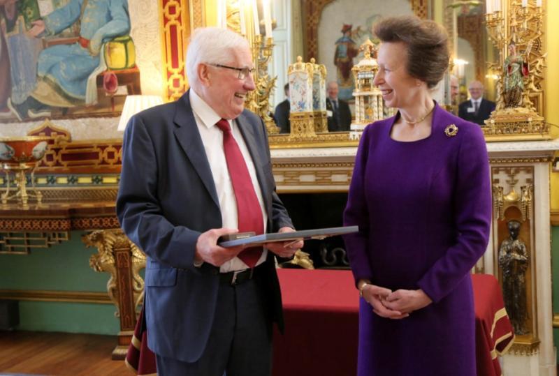 Princess Anne awards dairy farmer award for 'lifetime contribution'