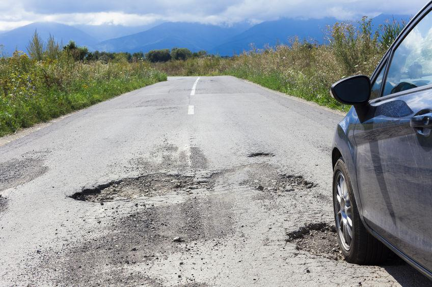 Motorists warned to take care on rural roads as pothole problem worsens