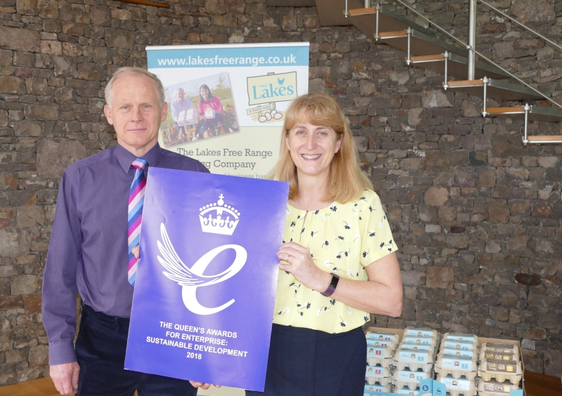 Lakes Free Range Egg Company wins Queens Award for Sustainable Development