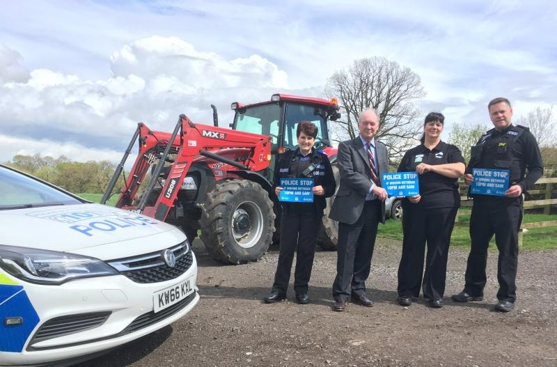 Police stickers to help stamp out tractor theft