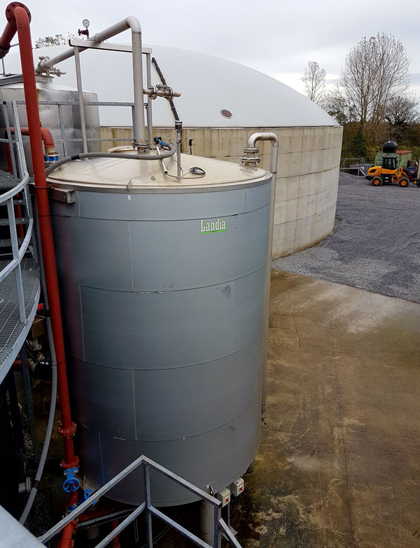 Landia's pasteurizer at GreenGas, which increases digestate temperture to ABP requirements