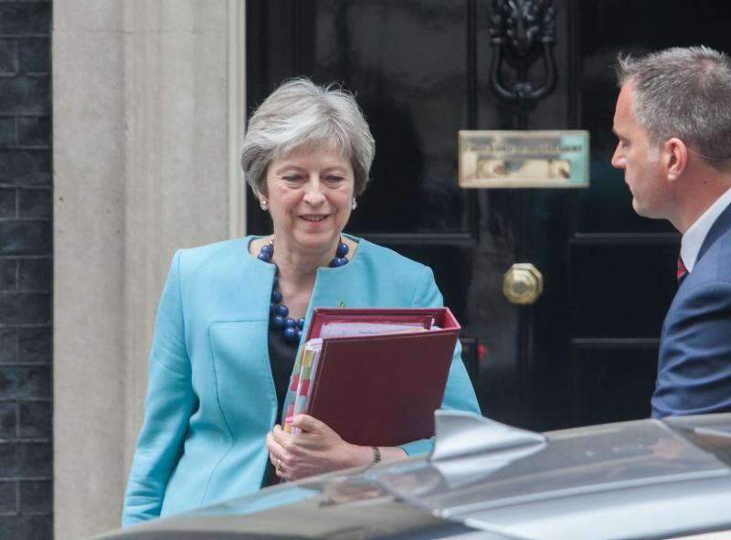 Theresa May answered a question during PMQs about British food production post-Brexit (Photo: Amer Ghazzal/REX/Shutterstock)