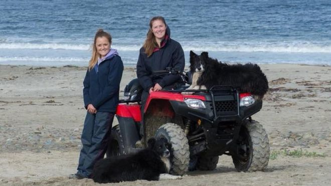 Young sisters win 'Farming Heroes' award for running farm after death of dad