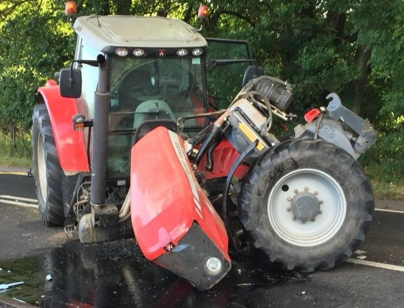'Very lucky' tractor driver escapes major injury following serious collision