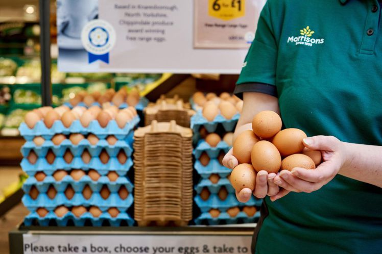 Morrisons announces 'farm shop style' local eggs stand in store